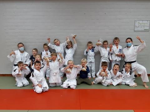 Onze groep kleuter judoka's